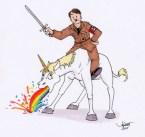 unicorn and rider