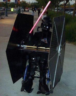 Vader in Tie Fighter