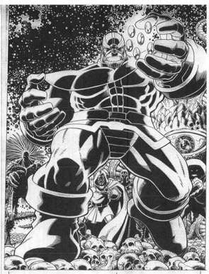 Thanos in black & white