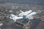 shuttle over stadium