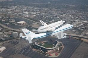 shuttle over stadium