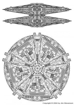Cylon basestar designs