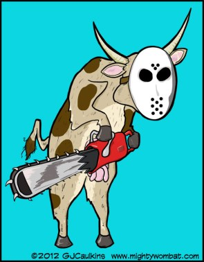 Cow with Chainsaw