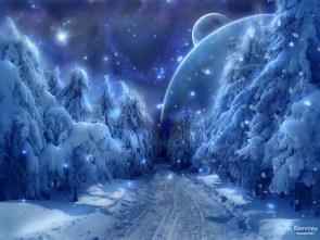 Fantasy winter wallpaper