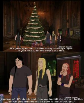 Metalocalypse Christmas tree