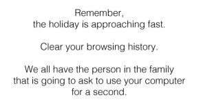 Your browser history at Christmas