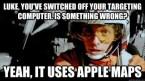 Luke turns off Apple Maps