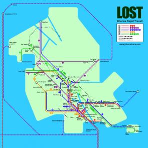 Lost subway map