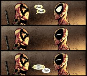 Deadpool believes in monkey hitman