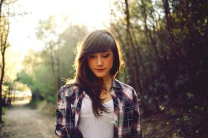 chick in plaid shirt