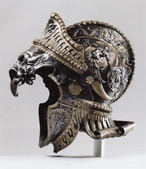 Ornate helmets