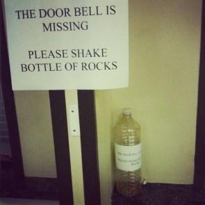 Bottle of rocks