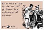 Flowers in an asshole