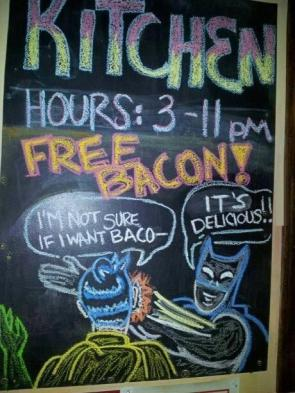 FREE BACON FTW!