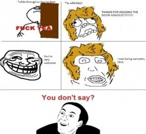 Sarcasm vs sarcasm