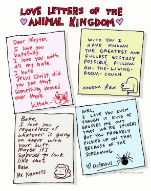 Animal love letters