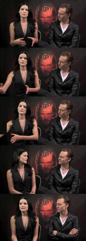 Loki checkin Sif out