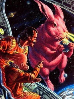 Lazer out the nostrils Pink Cosmic Rabbit Rules