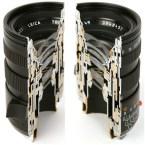 Cutaway lens