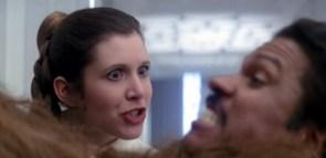 Sneering Leia
