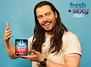 Playtex Crotch Wipes, brought to you by Andrew W.K.