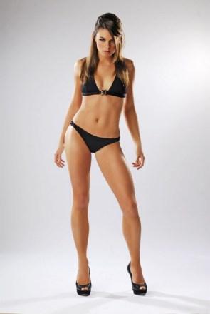 black bikini model