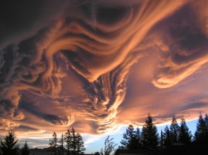 Gnarly clouds