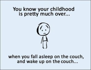 Childhood is over when…