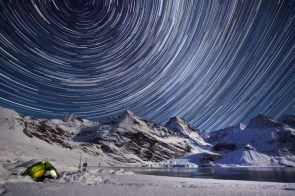 Star Trails over the Harker Glacier – South Georgia