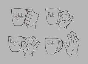 Mug holding technique