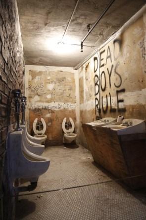 Replica of the toilets at CBGB
