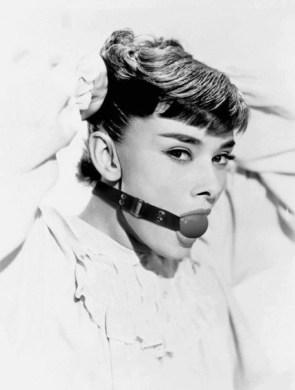 Audrey Hepburn gag ball