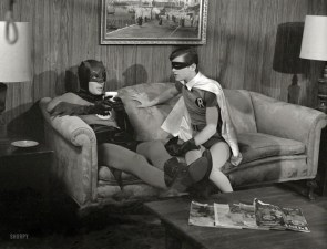 Couch time with Batman and Robin