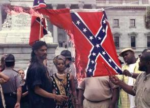 flag burnin