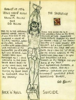 gg allin drawing