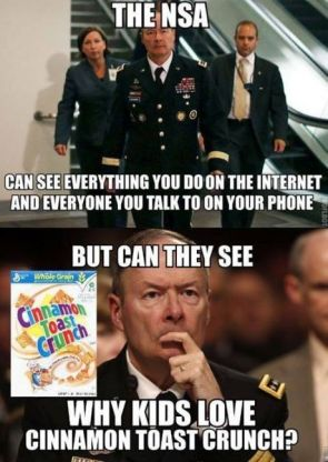 Not even the NSA can see…