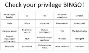 privilege bingo