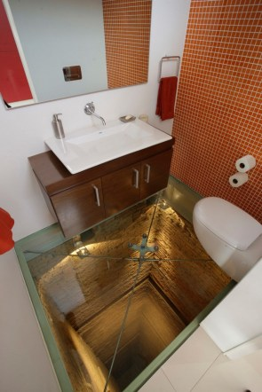 Not a good bathroom to try to cope with being too drunk or tripping in