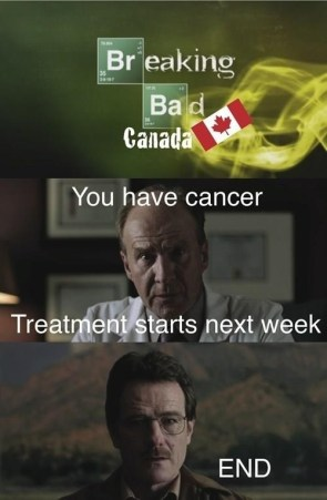 If Breaking Bad was set in Canada it would have ended a long time ago