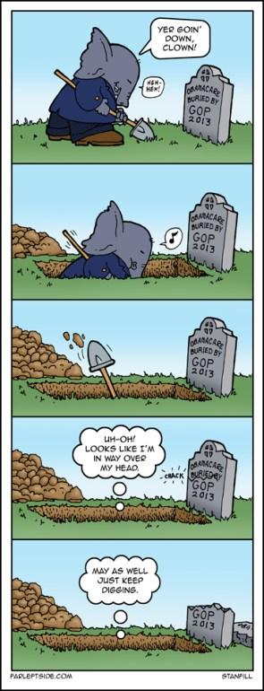 burying obamacare
