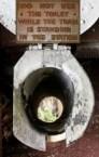 Old train toilet