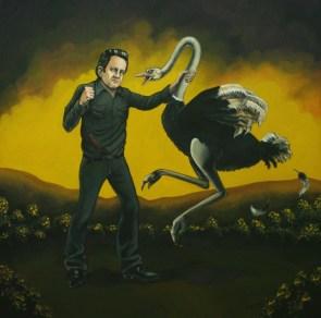 Johnny Cash attacks an ostrich