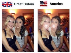 Great Britain vs USA