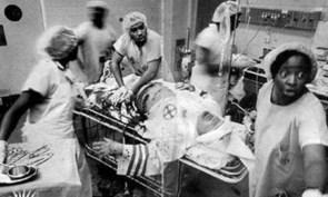 Black nurses saving a member of the KKK