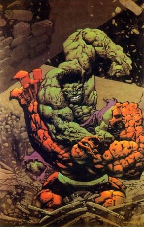 Simon Bisley – Thing vs Hulk