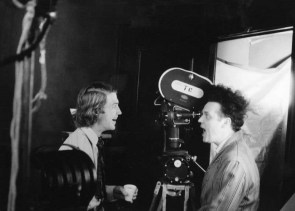 David Lynch and Jack Nance on the set of Eraserhead