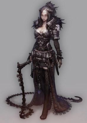 Axe chain whip woman