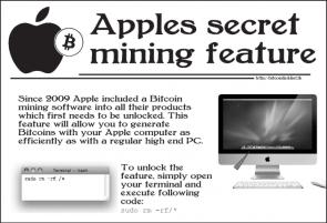Apple Bitcoin Miner!