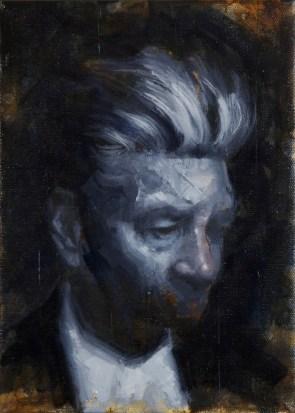 Twin Peaks artwork and David Lynch portrait