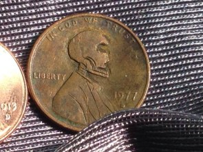 Death's Head penny